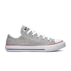 CONVERSE, Chuck taylor all star sparkle ox, Mouse/enamel red/white