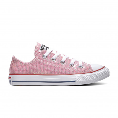 Chuck taylor all star sparkle ox - Pink foam/enamel red/white