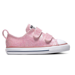 CONVERSE, Chuck taylor all star 2v sparkle ox, Pink foam/enamel red/white