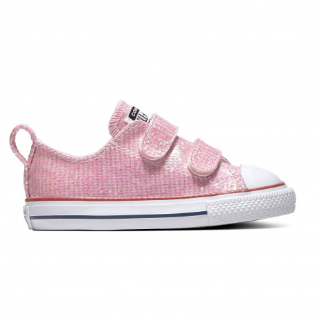 Chuck taylor all star 2v sparkle ox - Pink foam/enamel red/white