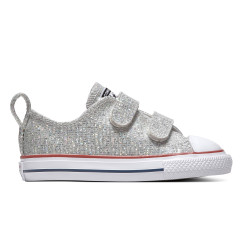 CONVERSE, Chuck taylor all star 2v sparkle ox, Mouse/enamel red/white