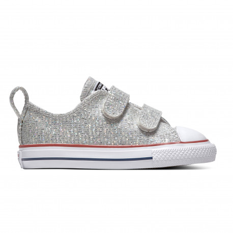 Chuck taylor all star 2v sparkle ox - Mouse/enamel red/white