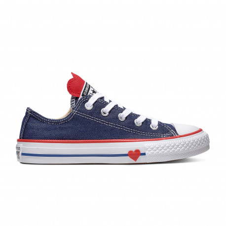 Chuck taylor all star denim love ox - Navy/enamel red/blue