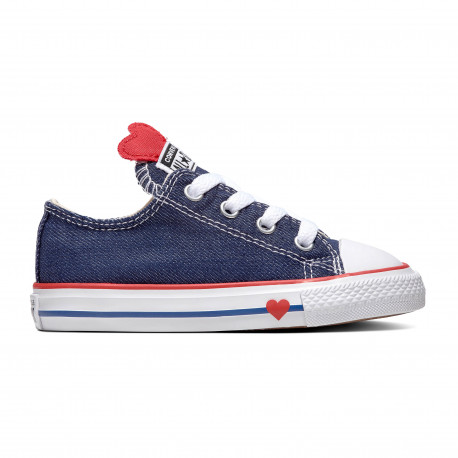 Chuck taylor all star denim love ox - Navy/enamel red/blue