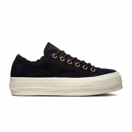 Chuck taylor all star frilly thrills ox - Black/gold/egret
