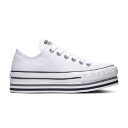 CONVERSE, Chuck taylor all star platform layer ox, White/black/thunder