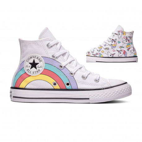 Chuck taylor all star hi - White/black/strawberry jam