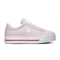 CONVERSE, One star platform ox, Barely rose/white/gym red