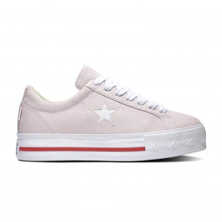 One star platform ox - Barely rose/white/gym red