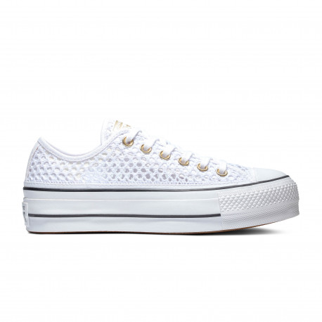 Chuck taylor all star lift ox - White/white/black