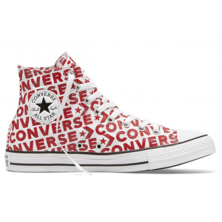 Chuck taylor all star hi - White/enamel red/white