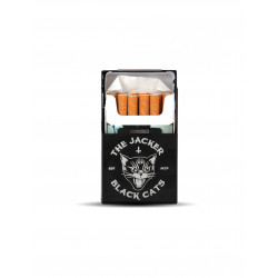 JACKER, Cigaret case black cats, Black
