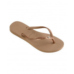 HAVAIANAS, Slim crystal glamour sw, Rose gold/metallic rose gold