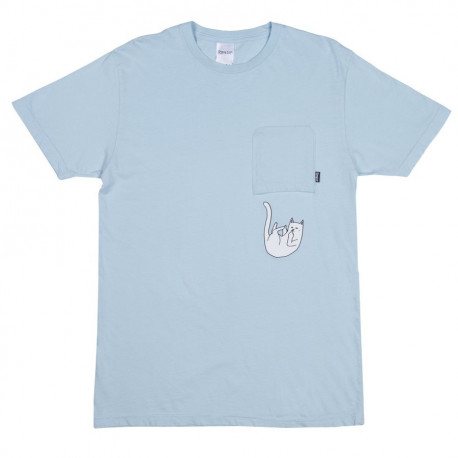 Falling for nermal tee - Baby blue tie dye