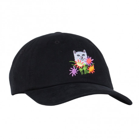 Flowers for bae dad hat - Black