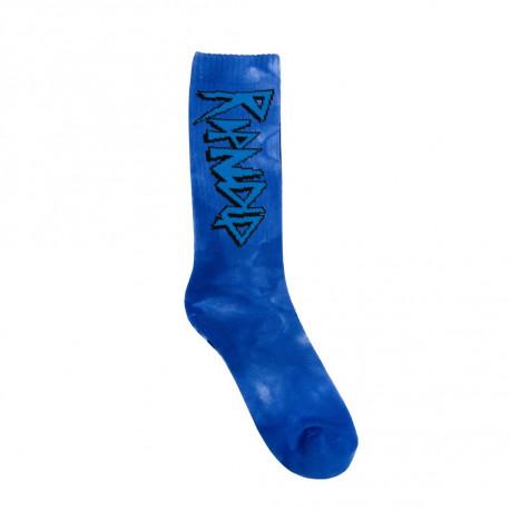 Retro socks - Blue tie dye
