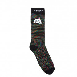 RIPNDIP, Peeking nerm socks, Black space dye