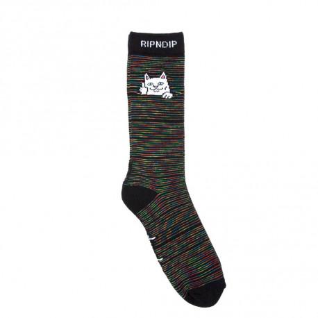 Peeking nerm socks - Black space dye