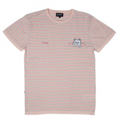 RIPNDIP, Peeking nermal knit tee, Pink/teal