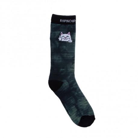 Peeking nermal socks - Swamp dye