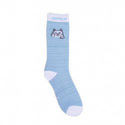 RIPNDIP, Peeking nermal socks, Baby blue / white