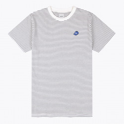 WEMOTO, Hat tee striped, Off white-black