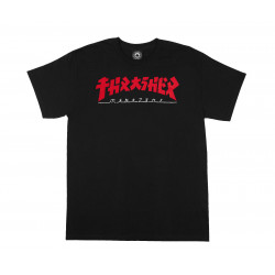 THRASHER, T-shirt godzilla ss, Black