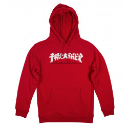 THRASHER, Sweat godzilla hood, Red