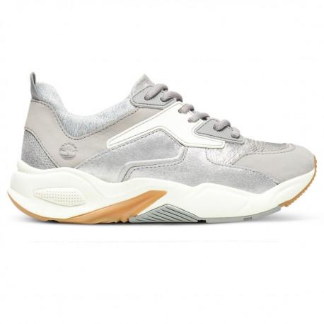 Delphiville leather sneaker - Silver