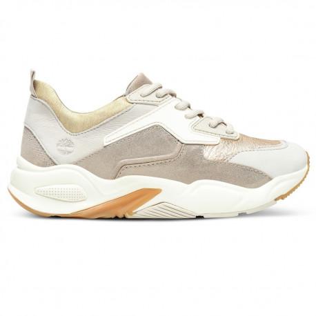 Delphiville leather sneaker - Gold