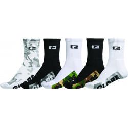 GLOBE, Malcom crew sock 5pk, Camo