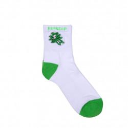 RIPNDIP, Tucked in socks, White / green