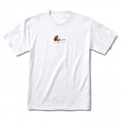 PRIMITIVE, T-shirt burning, White