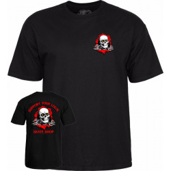 POWELL PERALTA, T-shirt support your local skate shop, Black