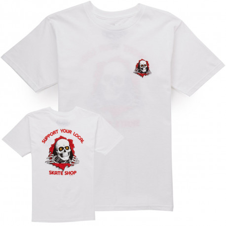 T-shirt support your local skate shop - White