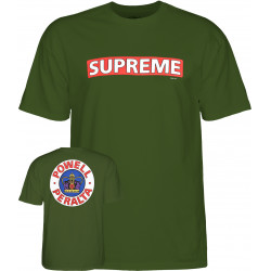 POWELL PERALTA, T-shirt supreme military, Green