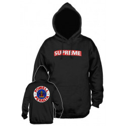 POWELL PERALTA, Sweat supreme hood, Black red