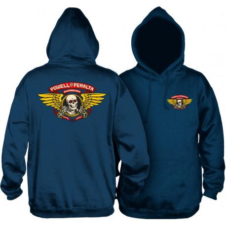 Sweat winged ripper hood - Navy
