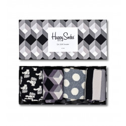 HAPPY SOCKS, Black and white gift box, 9004