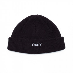 OBEY, Rollup beanie, Black