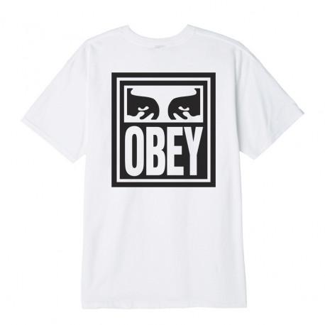 Obey eyes icon - White