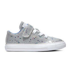 CONVERSE, Chuck taylor all star 1v galaxy glimmer ox, Silver/ozone blue/white