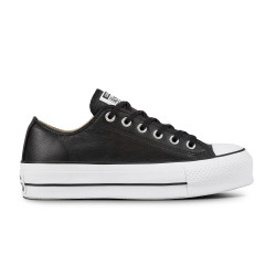 CONVERSE, Chuck taylor all star lift clean ox, Black/black/white