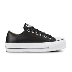 CONVERSE, Chuck taylor all star lift clean ox, Black/black/white