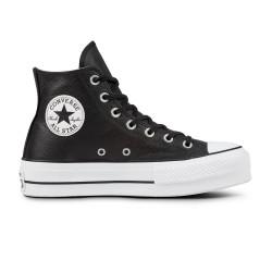 CONVERSE, Chuck taylor all star lift clean hi, Black/black/white