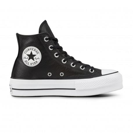 Chuck taylor all star lift clean hi - Black/black/white