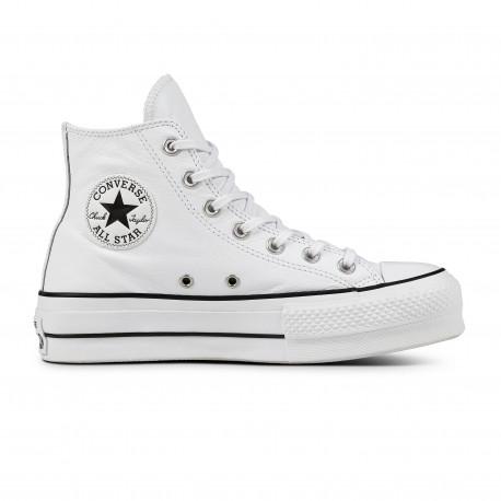 Chuck taylor all star lift clean hi - White/black/white