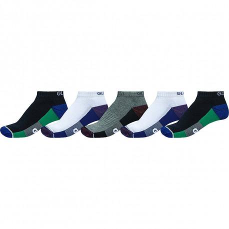 Evan ankle sport sock - White/navy/black