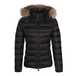JUST OVER THE TOP, Luxe ml capuche grand froid, Black