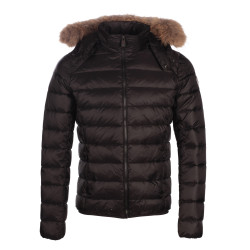JUST OVER THE TOP, Prestige ml capuche fourrure grand froid, Black